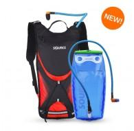 Source Brisk Hydration Pack 3 Litre Black & Red